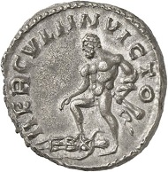 Antoninianus, Cologne, beginning of 268. Rev. HERCVLI INVICTO Hercules, to his feet Amazonian Queen Hippolyta. From the forthcoming Jacquier Auction 42 (16.9.2016), Lot 585. Extremely fine. Estimate: 4,000 euros.