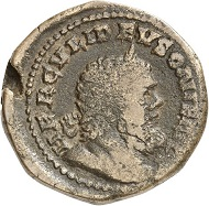 Sestertius, Cologne, fall of 260. Rev. HERCVLI DEVSONIENSI Bust of Hercules displaying Postumus' facial features. From the forthcoming Jacquier Auction 42 (16.9.2016), Lot 632. Almost very fine. Estimate: 600 euros.
