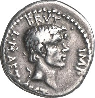Denarius of L. Plaetorius Cestianus, military mint in Asia Minor or Northern Greece, 42 BC. With portrait of Brutus. Cr. 508/3. From Künker Auction 124 (2008), 8483. Estimate: 30,000 euros. Hammer price: 90,000 euros.