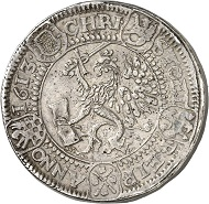 5007 - Triple reichstaler 1613, Stettin. Probably unique. Very fine. Künker Auction 283 (September 29, 2016), lot 5007. Estimate: 20,000 euros.