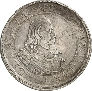 5016 - Double reichstaler 1616, Stettin, on the funeral of his step-mother Anna on April 8. Very fine. Ex Dr Heinrich Neumann Collection, Künker Auction 283 (September 29, 2016), lot 5016. Estimate: 5,000 euros.