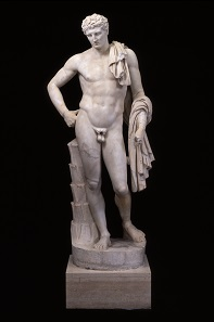 The Lansdowne Hermes. Roman, first half of 2nd century A.D. Marble. SBMA, Gift of Wright S. Ludington.