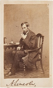 Abraham Lincoln: Outstanding Signed Carte-de-Visite.