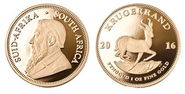 The Krugerrand from 2016. Photo: South African Mint.