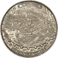 Lot 4769: HAMBURG (pre-1871 Germany). Silver medal 1636, by S. Dadler. Extremely fine. Estimate: 20,000,- euros. Hammer price: 40,000,- euros.