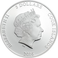 Cook Islands / 5 Dollars / 1 oz .999 Silver / 38.61 mm / Design: Coin Invest Trust / Mintage: 999.