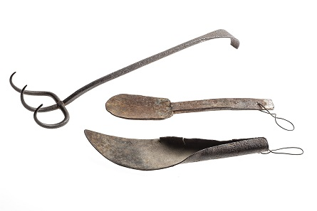 Hand-forged mining tools. Image RBCM 2014.188.1 and 2014.188.2 courtesy of the Royal BC Museum and Archives.