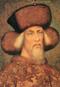 Sigismund of Luxembourg. Artist: Pisanello (c. 1395 - c. 1455). Source: Wikipedia.