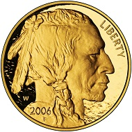 The American Buffalo, gold bullion coin of the US Mint since 2006. Photo: US Mint.