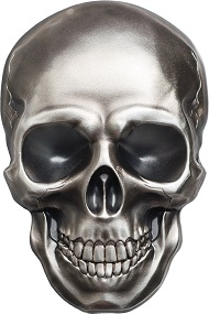 Palau / Skull No1 / 5 Dollars / Silver .999 / 1 oz / 38.61 mm / Antique-Finish / Mintage: 1750.