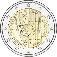 Finland / 2 euros / 27.75mm / 8.5g / Design: Nora Tapper / Mintage: 989,000 (UNC), 11,000 (proof).