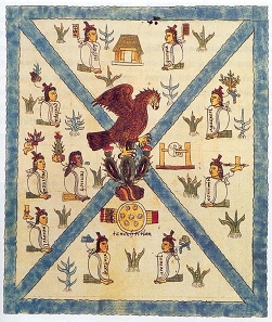Early depictions of the Mexican heraldic animal from the Codex Mendoza from the middle of the 16th century.