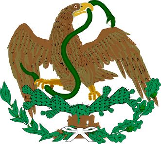 Mexican coats of arms from the years 1823 until 1864 and 1867 until 1893.