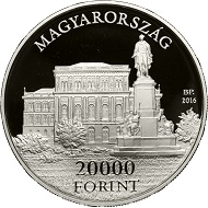 Hungary / HUF 20,000 / Silver .925 / 77.76g / 52.5mm / Design: Mihály Fritz / Mintage: 5,000.