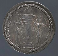 This Sasanian drachma also forms part of the new installation. Photo courtesy of the Princeton University Art Museum.