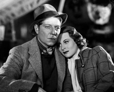 Jean Gabin and Michèle Morgan in 'Le Quai des brumes', 1938.