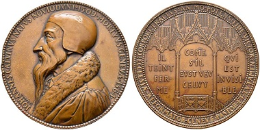 Zurich. Bronze medal 1835 by A. Bovy. From the auction Sincona 29 (2016), 2390.