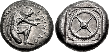 Lot 86: Silver Stater of Eminakos. Among the Finest Known. Estimate: 30,000 USD. Realized: 75,000 USD.