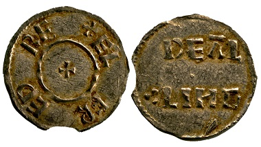 'Two Line' type penny of Alfred from the hoard; issued by the moneyer 'Dealing', probably minted in London. © Portable Antiquities Scheme.