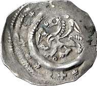 Austria. Pfennig, ca. 1190-1210, Enns. Winged panther. Rv. two dragons. From Künker sale 130 (2007), No 2595.