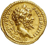 The model: Septimius Severus with his spouse and his sons Caracalla and Geta. Aureus, 201, Rome. From Künker sale 288 (13 March 2017), No. 679. Estimate: Euro 30,000.