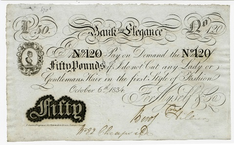 19th century 'Flash note'. Photo: © Bank of England Museum.