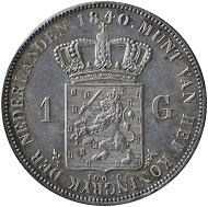 The one guilder 1840, William II - one of the most expensive coins of the Dutch Kingdom. Photo: ©NNC.