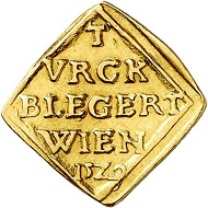 Ferdinand I. Siege coin of 1/2 ducat 1529. From Künker sale 289 (March 14, 2017), No 1538.