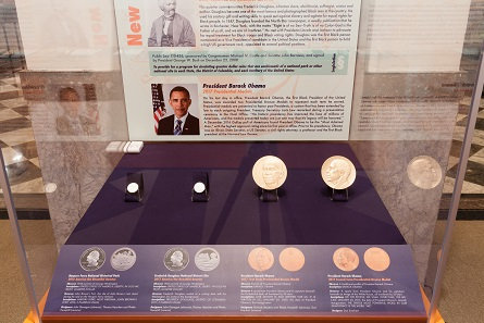 Showcase with Barack Obama 2017 Presidential Medals. Photo: © Alan Barnett.