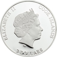 Cook Islands / 2 Dollars / Silver .999 / 1/2 oz / 50 mm / Mintage: 999.