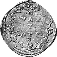 Italy, Papal States. 1/4 ducaton, without date (1527). Mario Traina, Gli assedi e le loro monete 59, 118a. From a German private collection.