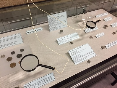 The exhibition used many techniques to make the objects more visible, including the provision of magnifying glasses. Photo: Henry Flynn.