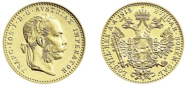 1 ducat with the date 1915. Photo: Austrian Mint.