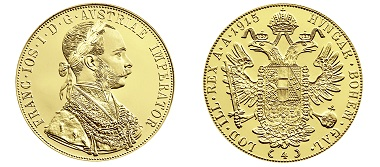 The 4 ducat with the year 1915. Photo: Austrian Mint.