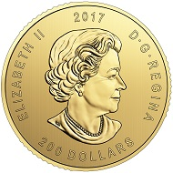 Canada / 200 Dollars / Gold .9999 / 1 oz / 30mm / Design: Pierre Leduc / Mintage: 400.