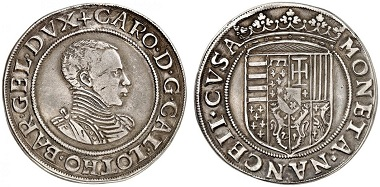 Lorraine. Charles III, 1545-1608. Écu n. y. (1556-1561), Nancy. From Grün sale 71 (2017), No. 1845. Estimate: 5,000 Euro