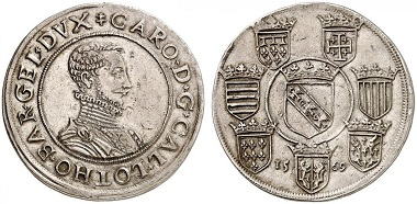 Lorraine. Charles III, 1545-1608. Écu 1569, Nancy. From Grün sale 71 (2017), No. 1846. Estimate: 3,500 Euro