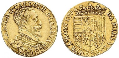Lorraine. Charles III, 1545-1608. Double pistole n. y. (1581-1608). From Grün sale 71 (2017), No. 1867. Estimate: 10,000 Euro