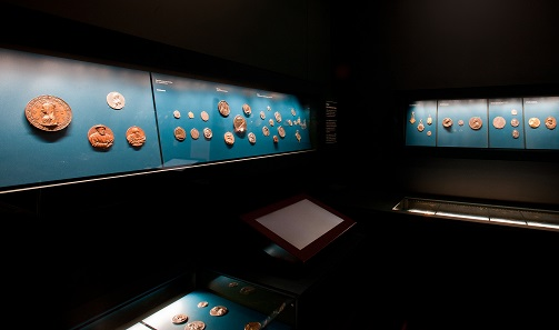 Historisches Museum Basel. Coin cabinet. Historisches Museum Basel, Photo: Ph. Emmel.