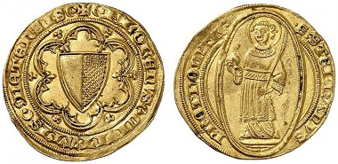 Lot 2024: Metz, City. Florin d'or, no date (15th cent.). Extremely fine. Estimate: 600 euros. Hammer price: 3,100 euros.