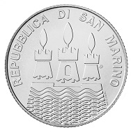 'World Water Day': San Marino / 5 euros / Silver .925 / 18g / 32mm / Design: Andrew Lewis.