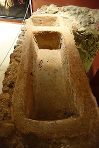 Basin in which garum was concentrated. I don't want to know how that must have stunk. Photo: KW.