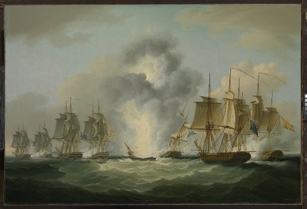 The sinking of the Nuestra Senora de las Mercedes on October 5, 1804.