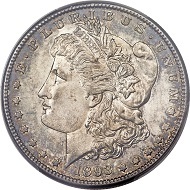 1893-S Morgan Dollar, MS61 PCGS. Sought-After, Low-Mintage Key. Especially Rare in High Grade.