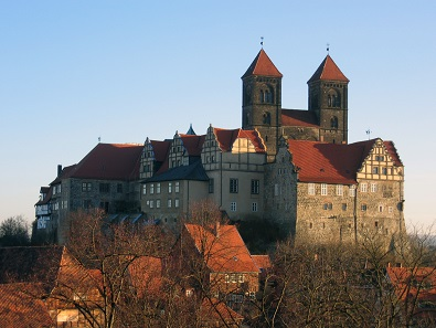 Quedlinburg castle with abbey church. Photo: A. Preussler / CC BY-SA 3.0.
