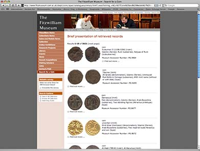 Catalogue of Islamic coins of the Fitzwilliam Museum.