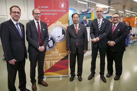 From left to right: Dr. Norbert Riedel, Ulrich Künker, Shi Mingde, Dr. Andreas Schikora, Michael Hans Chou.