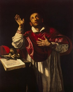 Saint Charles Borromeo. Painting by Orazio Borgianni. Between 1610 and 1616. Source: Wikipedia.