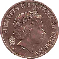 Domestic beef is depicted on the 2-pence-piece.