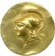 Golden medallion dated to the 3rd cent. AD. Image: Fitzwilliam Museum.